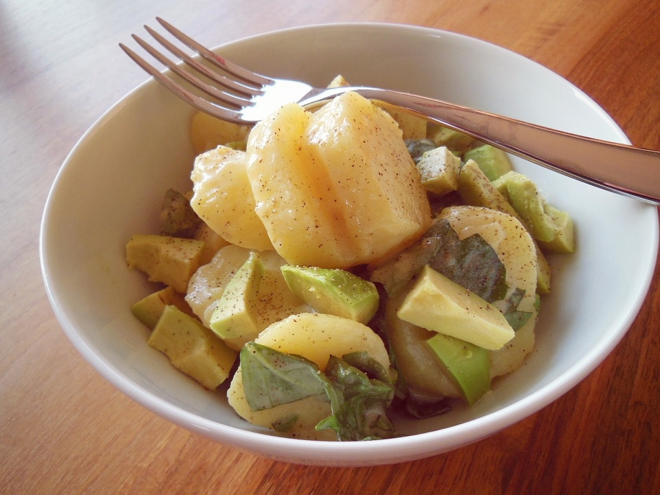 insalata patate avocado